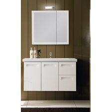 "Integral 39"" Wall Mounted Bathroom Vanity Set with Single Sink"