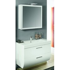 "New Day 38"" Single Wall Mounted Bathroom Vanity Set with Mirror"