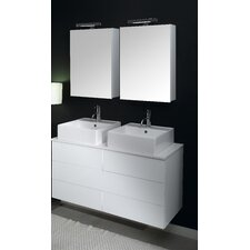 "Time 47"" Double Wall Mounted Bathroom Vanity Set"