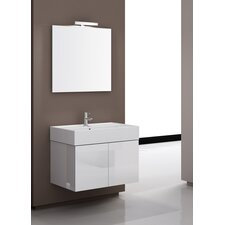 "Smile 32"" Single Wall Mount Bathroom Vanity Set with Mirror"