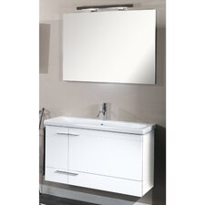 "Simple 39.3"" Wall Mounted Bathroom Vanity Set"