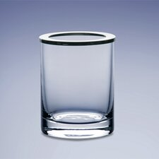 "4"" Plain Glass Toothbrush Holder"