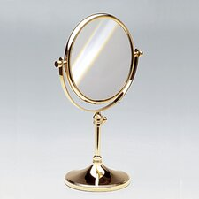Free Standing 7X Magnifying Mirror with Optical Grade Glass