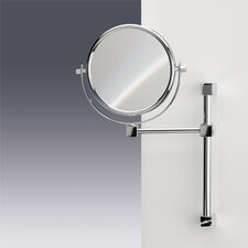 Double Face Wall Mounted 7X Magnifying Mirror with One Arm and One Brazo