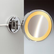 Fluorescent Light 5X Magnifying Mirror with One Arm
