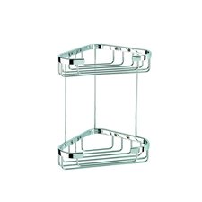 <strong>Geesa by Nameeks</strong> Basket Double Medium Corner Shower Basket in Chrome
