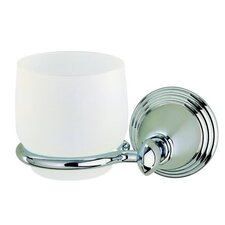 Montana Classic Tumbler Holder with Frosted Glass in Chrome