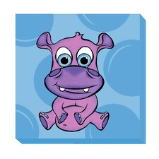 Hippo Zoo Baby Canvas Art