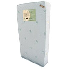 """Organic Baby Essentials VII 5.75"""" Two in One Crib Mattress with Natural Quilted Bamboo Fabric Cover"""