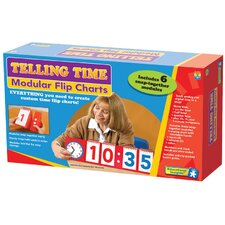<strong>Educational Insights</strong> Telling Time Modular Flip Charts