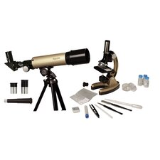 GeoVision Refractor Telescope and Microscope Set