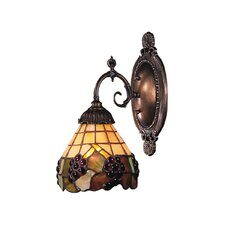 Mix-N-Match 1 Light Wall Sconce with Grapevine Glass Shade