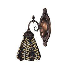 Mix-N-Match 1 Light Wall Sconce with Glass Shade