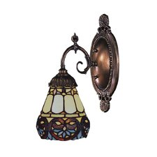 Mix-N-Match 1 Light Wall Sconce with Tavern Design Shade
