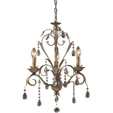 Angelite 3 Light Mini Chandelier