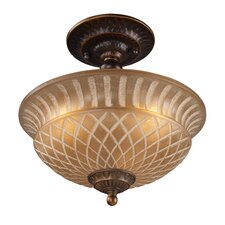 <strong>Landmark Lighting</strong> Restoration 3 Light Semi Flush Mount