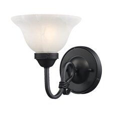 Buckingham 1 Light Wall Sconce with Glass Shade