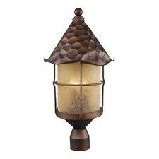 Rustica 3 Light Outdoor Post Lantern
