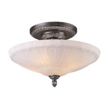 "20"" Restoration 4 Light Semi Flush Mount"