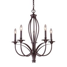 <strong>Landmark Lighting</strong> Medford 5 Light Chandelier