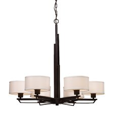 <strong>Landmark Lighting</strong> Iron Heights 6 Light Chandelier