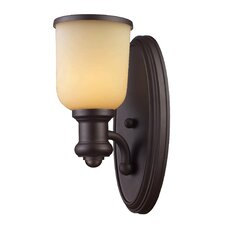 <strong>Landmark Lighting</strong> Brooksdale 1 Light Wall Sconce