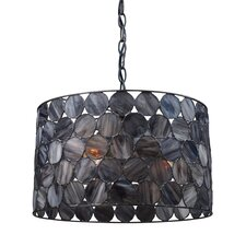 Capiza 3 Light Drum Pendant