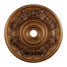 "<strong>Landmark Lighting</strong> 30"" Laureldale Medallion in Antique Brass"