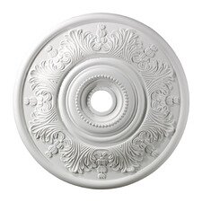 "30"" Laureldale Medallion in White"