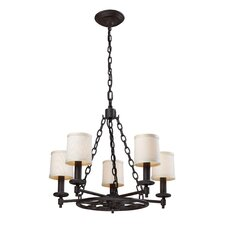 <strong>Landmark Lighting</strong> Ironton 5 Light Chandelier