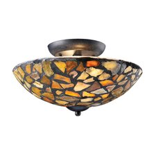 <strong>Landmark Lighting</strong> Trego 2 Light Semi Flush Mount