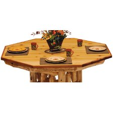 Traditional Cedar Log Dining Table Top for Poker Table