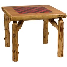 "36"" Traditional Cedar Log Game Table"