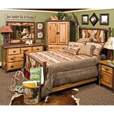 <strong>Fireside Lodge</strong> Hickory Panel Bedroom Collection