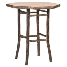 Hickory Pub Table and Round Barstool Set