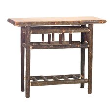 <strong>Fireside Lodge</strong> Hickory Open Console Table