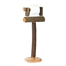 <strong>Fireside Lodge</strong> Hickory Free Standing Toilet Paper Holder