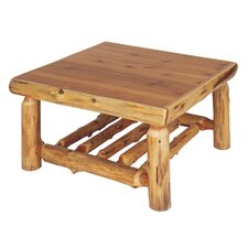 <strong>Fireside Lodge</strong> Traditional Cedar Log Coffee Table