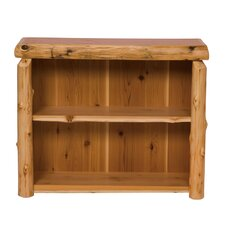 Traditional Cedar Log Bookshelf