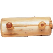 Traditional Cedar Log Wall Mounted Toilet Paper Holder