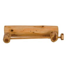 Traditional Cedar Log Paper Towel Holder