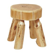 Traditional Cedar Log Foot Accent Stool