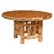 Traditional Cedar Log  Dining Table
