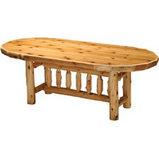 <strong>Fireside Lodge</strong> Traditional Cedar Log Dining Table