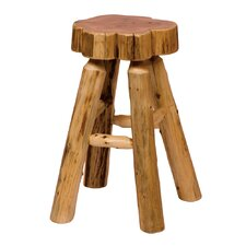 "Traditional Cedar Log 24"" Bar Stool"