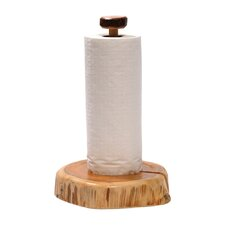 Traditional Cedar Log Free-Standing Paper Towel Holder
