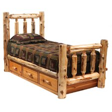 Traditional Cedar Log Bed