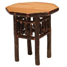 <strong>Fireside Lodge</strong> Hickory Octagon End Table