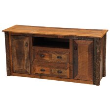 "<strong>Fireside Lodge</strong> Reclaimed Barnwood 59"" TV Stand"