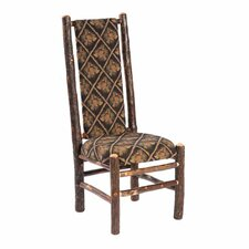 <strong>Fireside Lodge</strong> Hickory High Back Fabric Side Chair